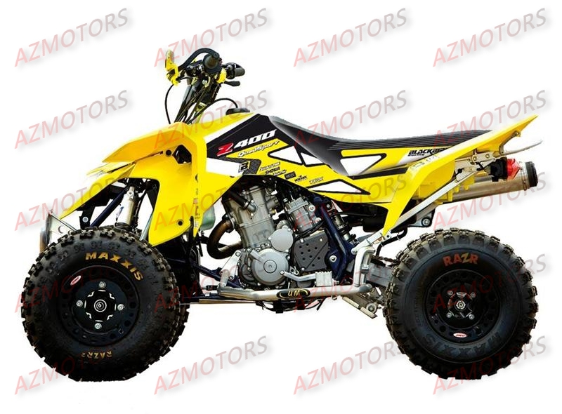 KIT DECO BLACKBIRD DREAM GRAPHIC II JAUNE POUR QUAD LTZ400 `03-10