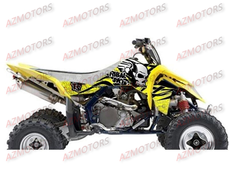 KIT DECO BLACKBIRD TRIBAL SKULL II JAUNE POUR QUAD LTR450 `06-11