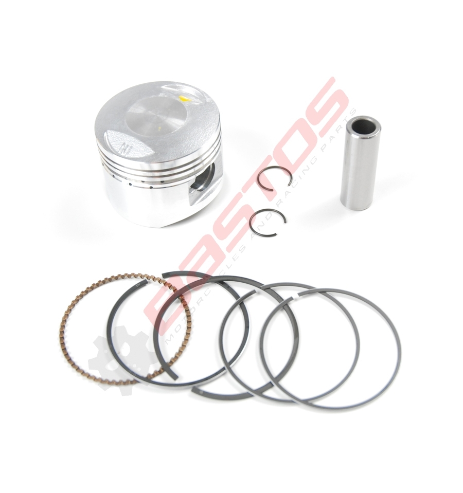 KIT PISTON 125 LIFAN DIAMÈTRE 52,4 AXE 14 MM - BASTOS-