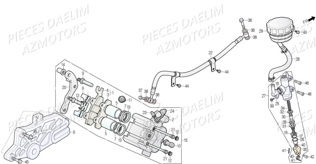 EBC plaquettes de freins fa083r essieu arrière s/'adapte à Adly GK 125 BUGGIE 03-07