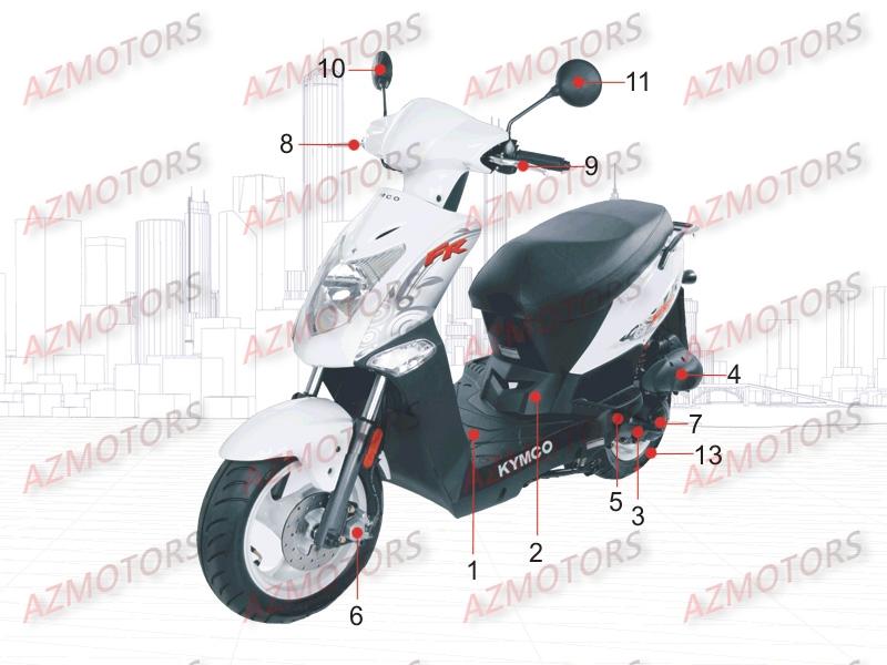 azmotors boutique en ligne quads motos scooters pieces kymco kymcoscoot agility50 fr 2t 1. Black Bedroom Furniture Sets. Home Design Ideas
