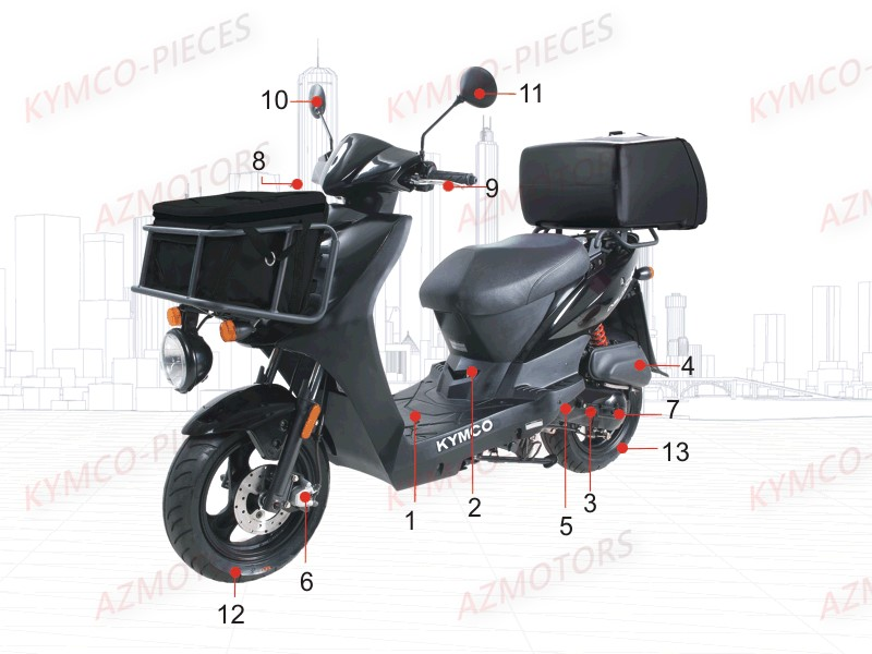 kymco pieces kymco boutique en ligne quads motos. Black Bedroom Furniture Sets. Home Design Ideas