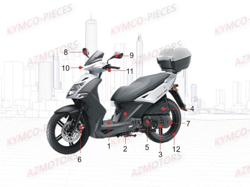 kymco pieces kymco boutique en ligne quads motos scooters pieces kymco scooter 50 2t agility. Black Bedroom Furniture Sets. Home Design Ideas