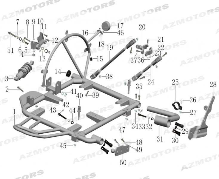 CHASSIS PANIER pour FAMILY SIDE-CAR VERT 400 2017 2019