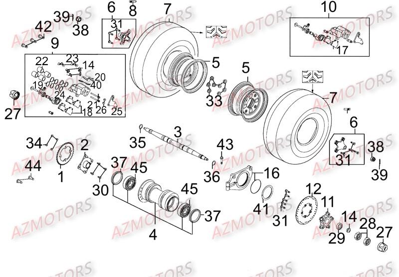 roues arriere version frein de parking vue eclate pieces mxu 250 4t euro ii lb50ad lb50ae. Black Bedroom Furniture Sets. Home Design Ideas