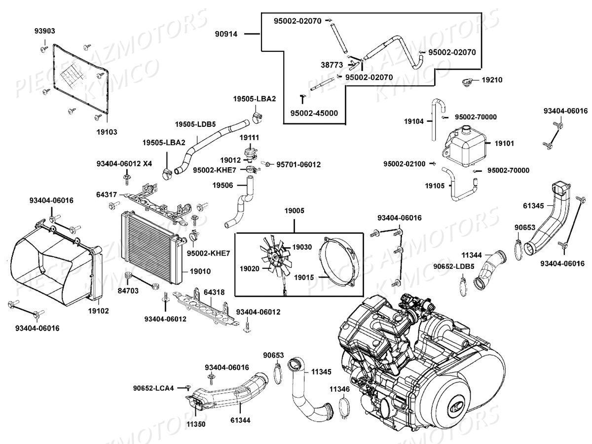 Lah Moteur Cylindre de frein arri/ère fa137/pour Suzuki ltz400/K3//K4//K5//K6//K7//K8/K9/PQ-5000-L0/2003 2010/ 1/Paire