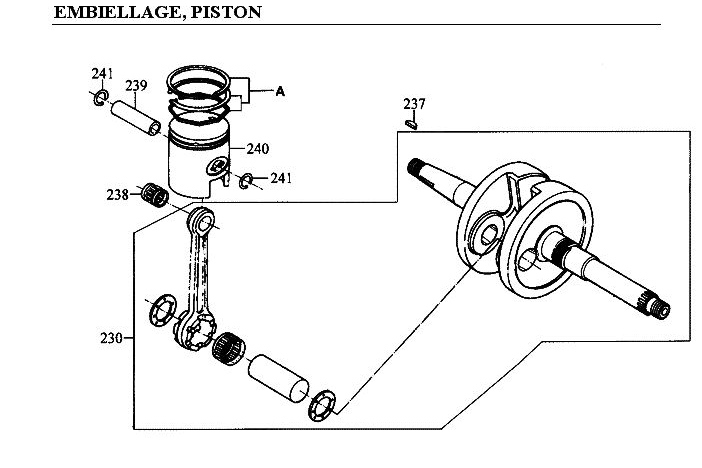 EMBIELLAGE - PISTON pour ZX12-50-2T